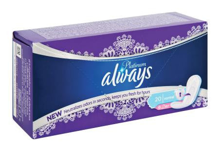 Always Liners Platinum Deodorant 20