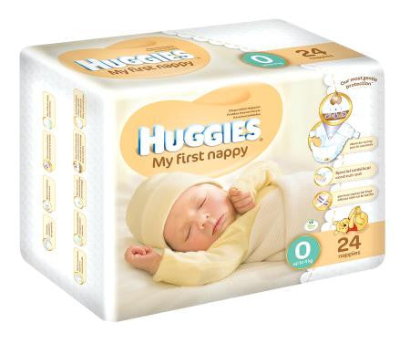 Huggies My First Nappy Size 0 For New Borns 24ea