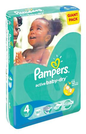 Pampers Active Baby Maxi Giant Pk 80ea