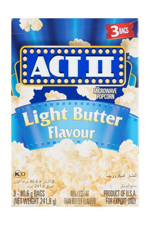 Act I I Microwave Popcorn Light Butter 81g 3ea