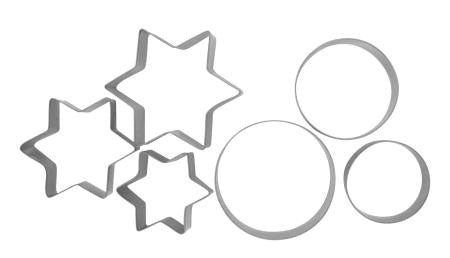 Anzo Inspire Cookie Cutters Star and Round 6 Piece