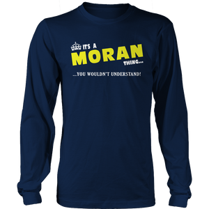 It's A Moran Thing, You Wouldn't Understand