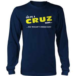 It's A Cruz Thing, You Wouldn't Understand