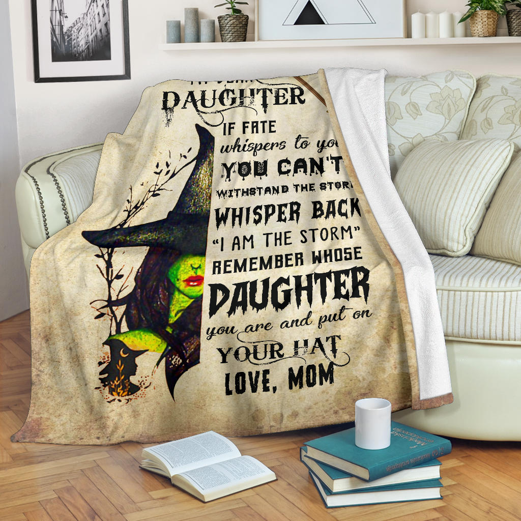 My Dear Daughter, Premium Fleece Blanket Gift from Mom to Daughter