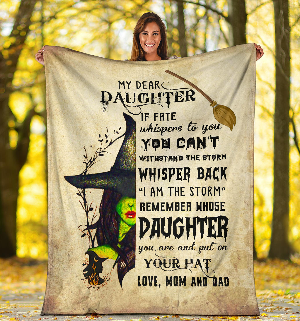My Dear Daughter, Premium Fleece Blanket Gift from Mom & Dad to Daughter