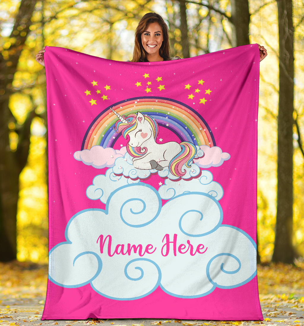 Personalized Name Magical Unicorn Blanket for Babies & Girls - Multistyle