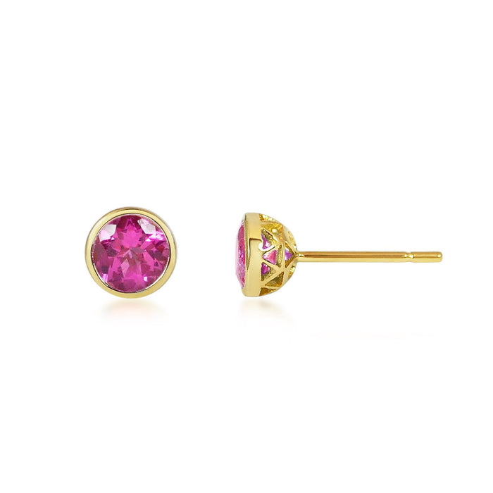 Petits Bouttons D'Or - Pink Tourmaline
