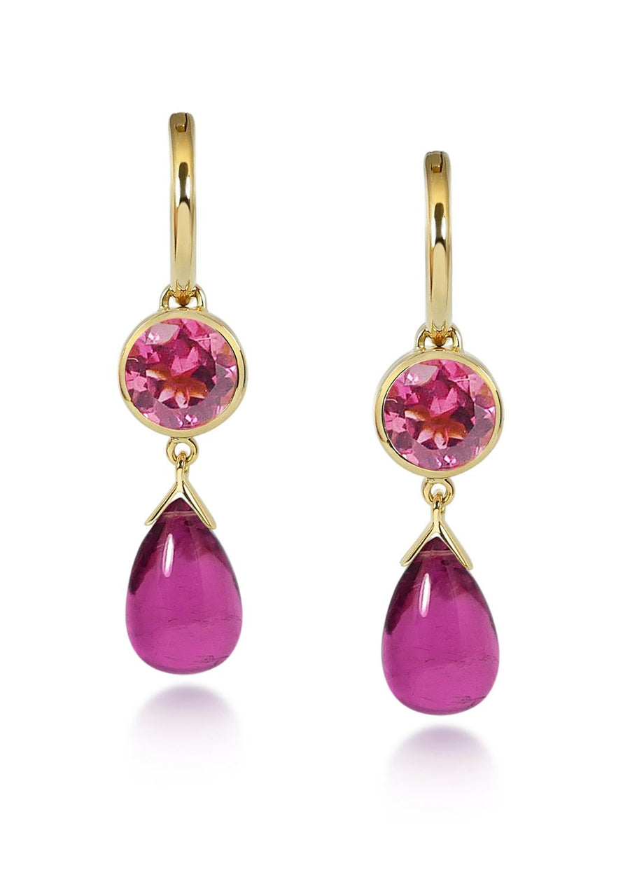 Gouttes D'Or Precieuses - Pink Tourmaline