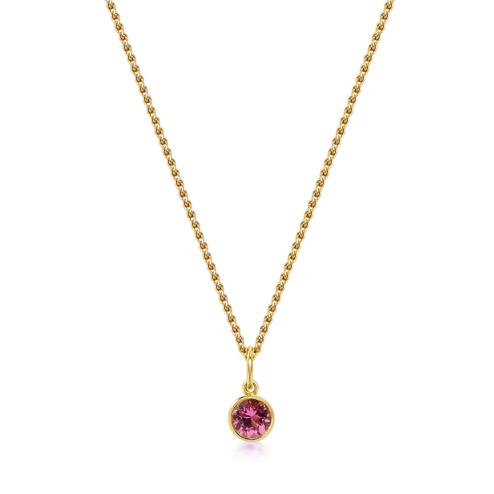 Petit Accroche Coeur - Pink Tourmaline