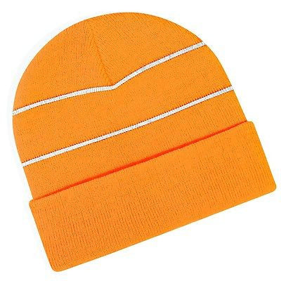 ... MENS   WOMENS BC042 ENHANCED VIZ KNITTED HAT GREAT FOR WINTER SNOW HIGH  VIS ... 4a53aa4100eb