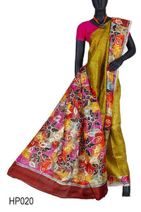 What It Is: Hand Painted Batik Silk Saree