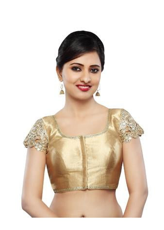 Vamas Antic-Gold Fancy Front Open Blouse