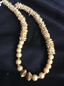 Ghoongroos Pearls with Matte Gold Beads