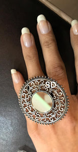 Round Shaped German Silver Ring