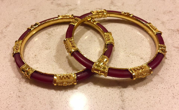 Red & Citi Gold Bangle from Bengal