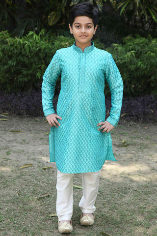 Glamorous Sea Green Party Wear Kurta