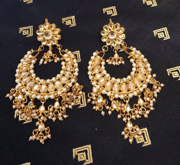 Large Chandbaali Kundan Earring