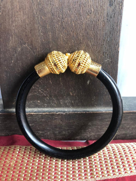 Black CitiGold Pola Bangle
