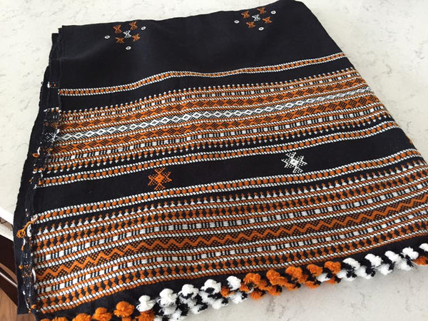 Black, Brown, & White Shawl