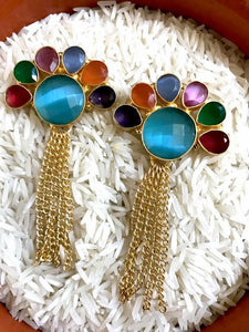 Multicolored Indo-Western Chic Earrings