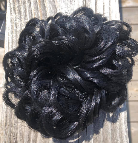 Black Bun Hair Scrunchy