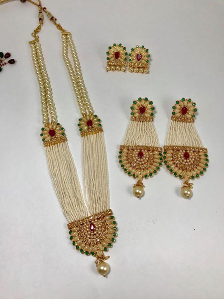 Beautiful Kundan Necklace Set With Ruby Stone