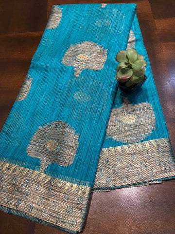 Gorgeous Tussar Handloom Silk Saree