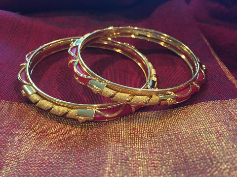 Red Citigold Authentic Bengali Bangles from Kolkata