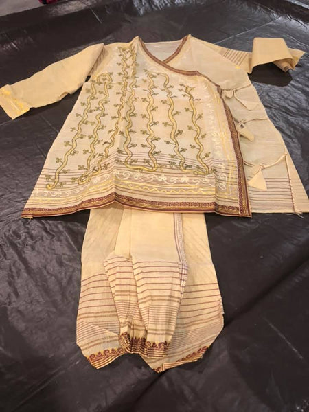 Cotton Embroidered Dhoti Kurta Pajama