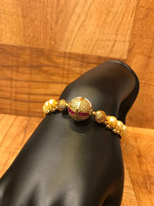 Traditional Gold Plated Pearl Bracelet