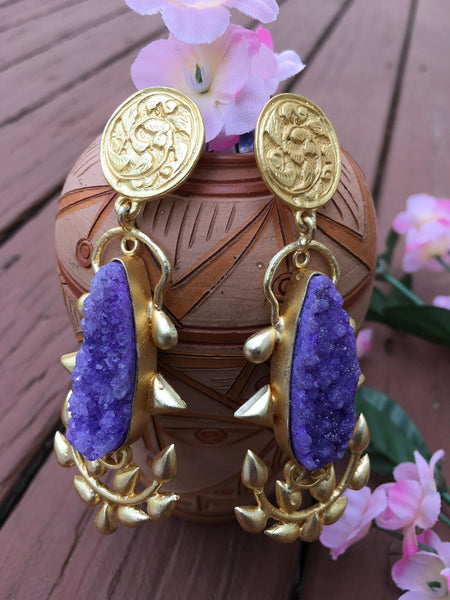 Beautiful Antique MeenaKari Earrings