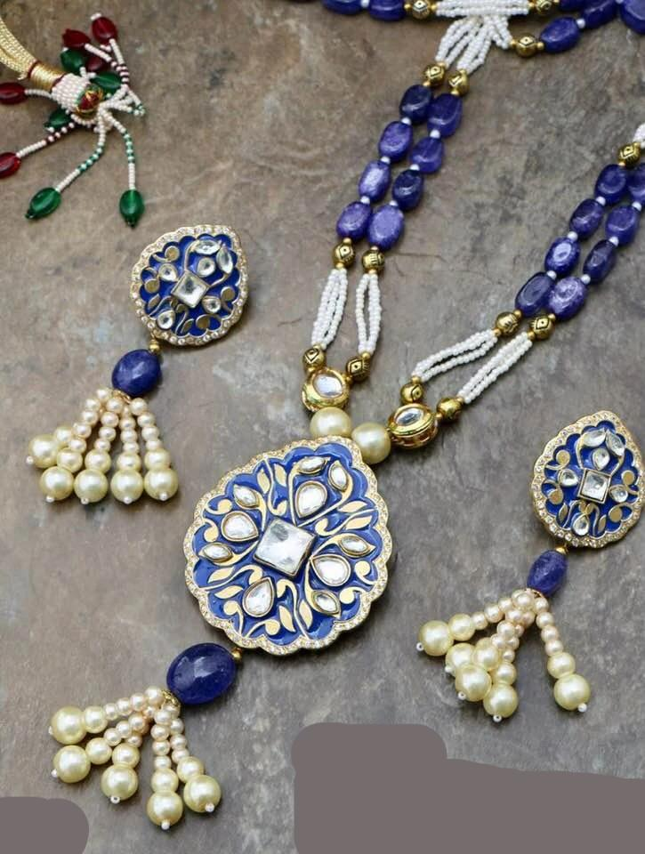 High Quality Kundan Necklace with Earrings