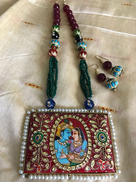 Beautiful Radha Krishna Necklace
