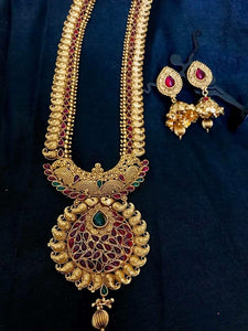 Gold Plated Necklace with Earrings