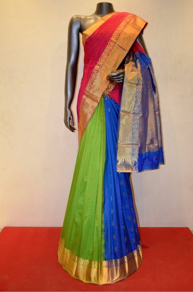 Double Patli Pure South Silk Saree
