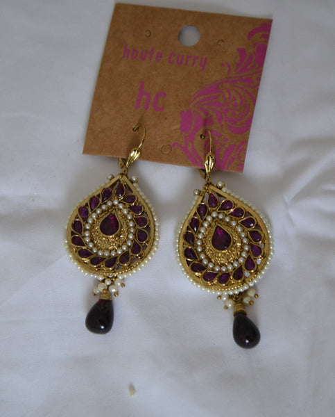 Purple Stone Dangling Earring