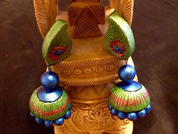 Blue & Green Terracota Earring