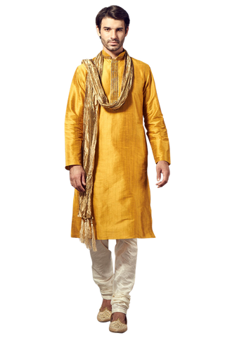 Mustard Yellow Kurta Pajama Set