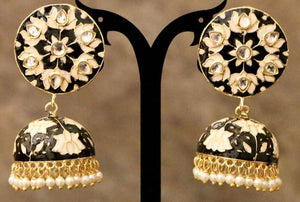 Black Color kundan Earring