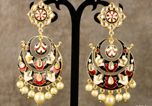 Kundan Hand Painted Earring