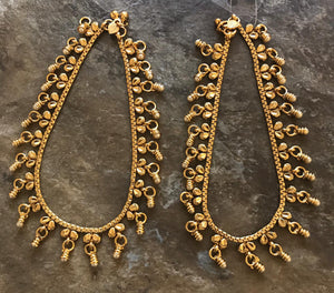 Beautiful Gold Plated Designer Anklet/ Payal