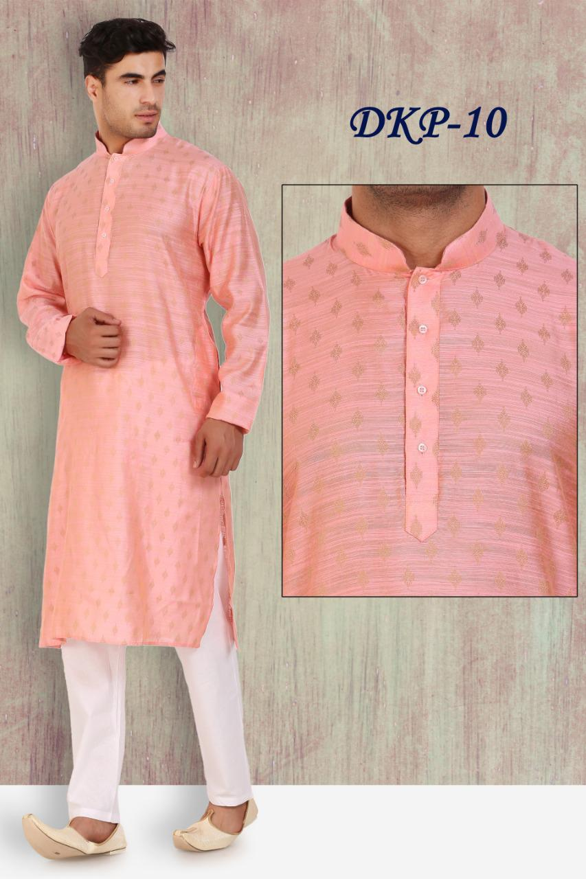Peach Colored Designer Kurta Pajama Set
