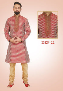 Maroon Colored Kurta Pajama Set