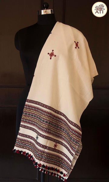Pure Handwoven Woolen Shawl From Kutchh