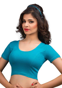 Firozi Cotton Lycra Stretchable Blouse