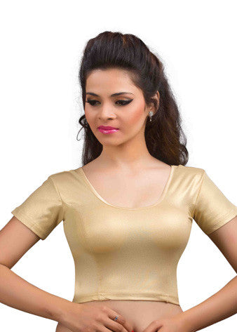 Gold Shimmer Stretchable Blouse