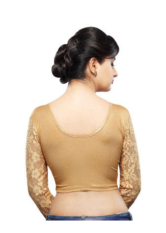 Vamas Copper Shimmer Stretchable Blouse