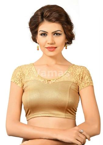 Copper Shimmer Stretchable Blouse
