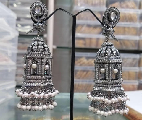 AD Victorian Finish Cage Earrings