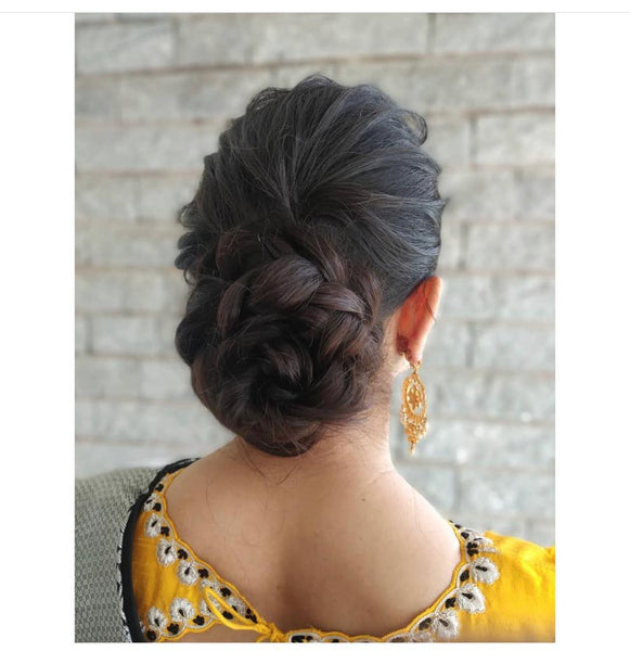 Black Colored Clip on Hair Bun For Women